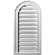 "12""W x 16""H Cathedral Urethane Gable Vent Louver, Non-Functional"