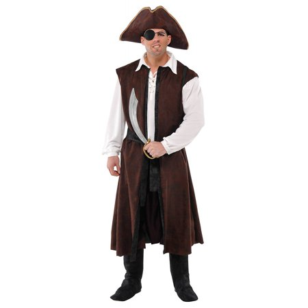 Long Pirate Vest Adult Costume - Standard