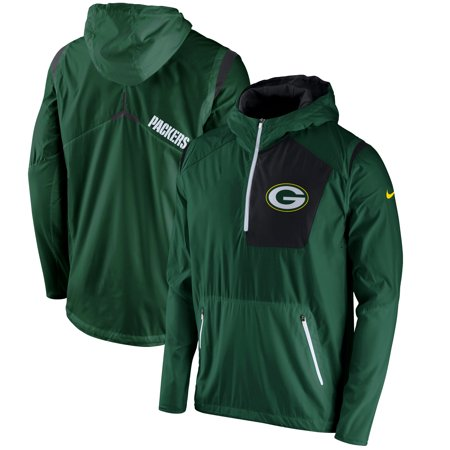 Green Bay Packers Nike Vapor Speed Fly Rush Half-Zip Jacket - (Nike Vapor Carbon Fly Td Cleats For Sale)