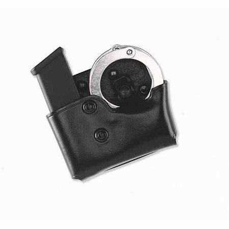 GALCO COP MAG/CUFF PADDLE CARRIER 357/40/9 STAGGERED COLUMN LEATHER BLK