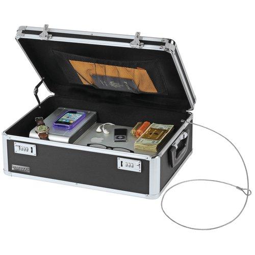 Vaultz Locking Storage Chest, Black