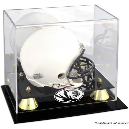 NCAA - Missouri Tigers Logo Mini Helmet Display Case | Details: Golden Classic, Mirror Back