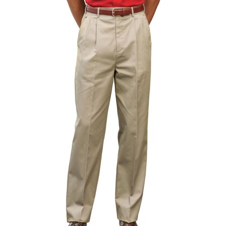 Edwards Garment Men's Pleated Front Chino Button Closure Utility Pant