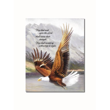 American Bald Eagle in Flight Christian Religious Wall Picture 8x10 Art (Eagle Art Print)