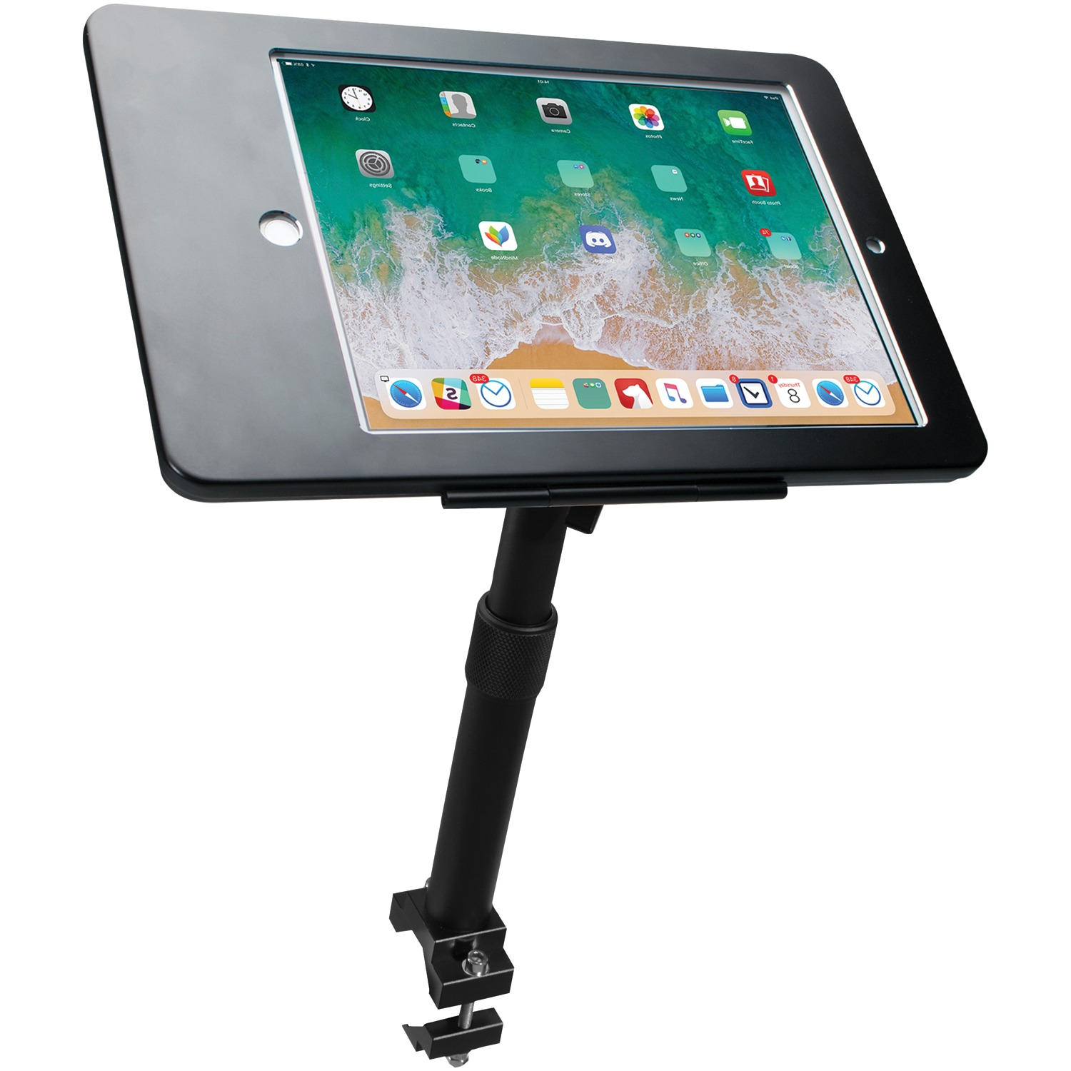 CTA Digital Height-Adj Tube-Grip Security Mount For iPad Pro 9.7In iPad Air