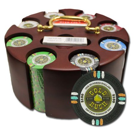 Smiths Clay (CSGR-200C 200Ct Claysmith Gaming Gold Rush Chip Set in Carousel Case, This is the 200 Ct