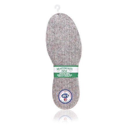 Moneysworth & Best Arctic Thermal Wool Felt/Aluminum Winter-Warm Insoles 1 Pair