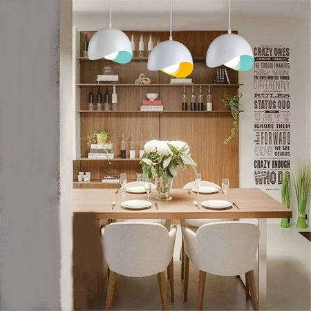 Grtsunsea Modern Metal Cage Pendant Lighting LED Ceiling Light Hanging Lamp Chandelier Lampshade Fixture 5-15m² 100-240V For Coffee Home - Yellow Track Lighting Fixture