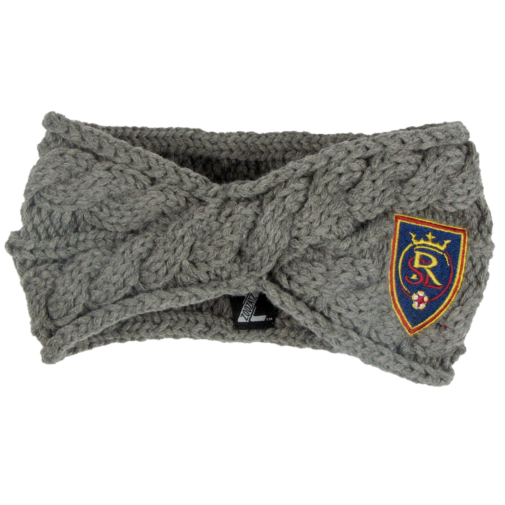 Real Salt Lake ZooZatz Women's Cable Headband - Charcoal - No Size