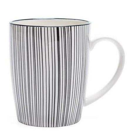 Torre & Tagus Kiri Porcelain Mug - Black Line