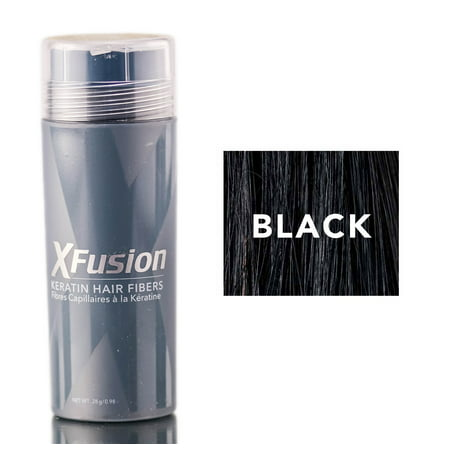 Xfusion Hair Fiber - XFusion Black Keratin Hair Fibers (Size : 0.98 oz)
