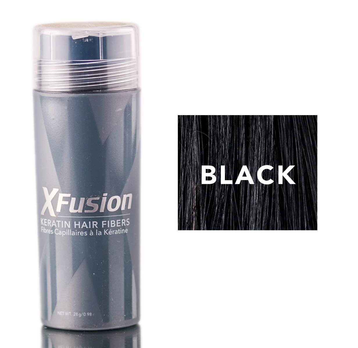 XFusion Black Keratin Hair Fibers (Size : 0.98 oz)