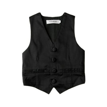 Stylesilove Baby Kids Boy Classic Gentlemen Tuxedo Vest (5-6 Years) (Boys 14 16 Vest)