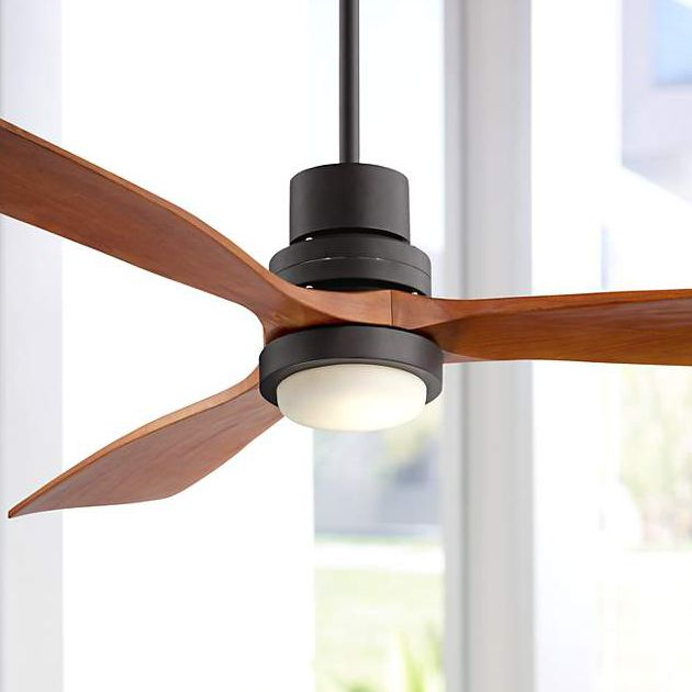 """52"""" Casa Vieja Modern Outdoor Ceiling Fan with Light Solid Wood Oil Rubbed Bronze Damp Rated for Kitchen Patio"""
