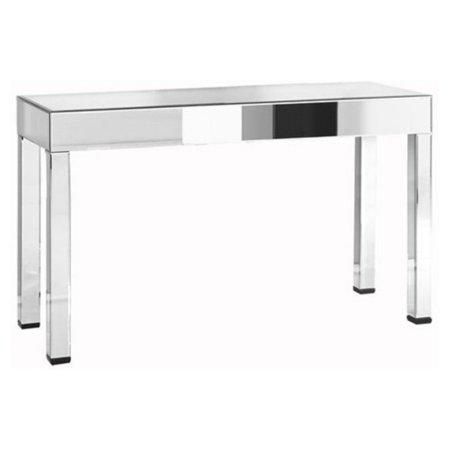Elegant Furniture & Lighting Modern Glam Mirrored Console