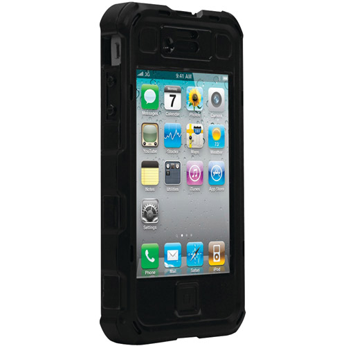 Ballistic HA0778-M005 Hard Core Case with Holster for Apple iPhone 4/4S - Black