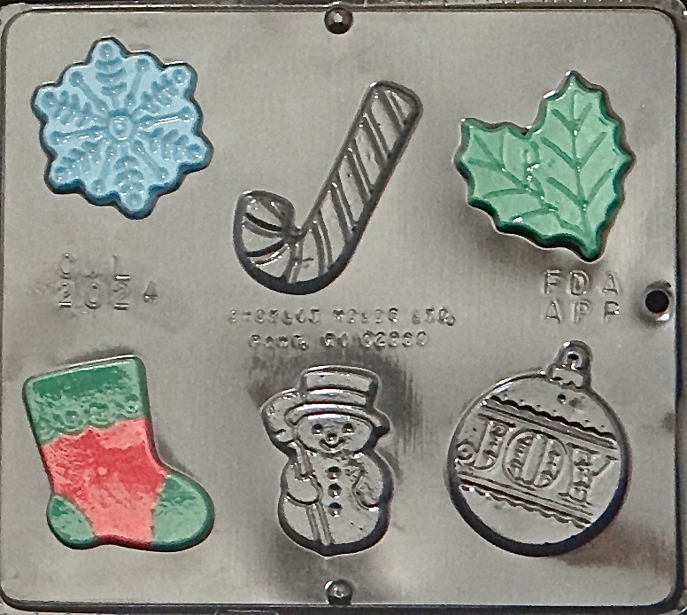 Click here to buy 2024 Christmas Assortment Chocolate Candy Mold.