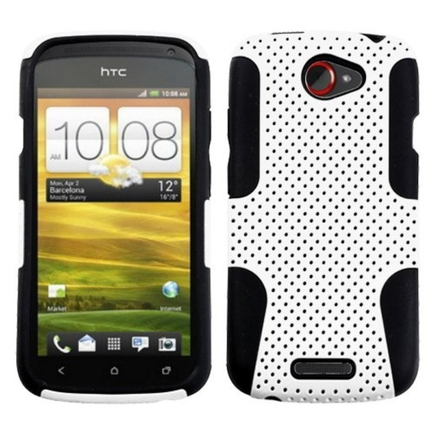 Insten White/Black Astronoot Phone Case for HTC: One S