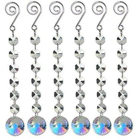 (Iridescent Ornament Strands - Set of 6 Octagon Shaped Gems Strung Together)