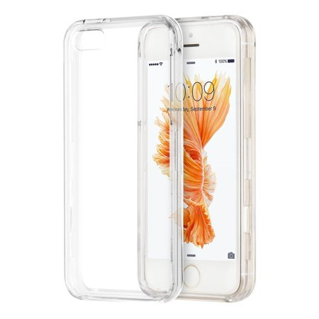 Insten Crystal Hard Clip On Case Clear For Apple iPhone SE / 5 / (Best Apple Case 5s)