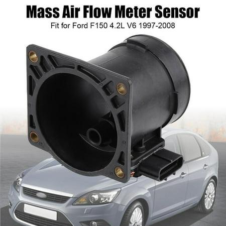 Qiilu Mass Air Flow Meter Sensor MAF for Ford F150 4.2L V6 1997-2008 F6ZF-12B579-AA,F6ZF-12B579-AA, MAF Sensor - image 8 of 13