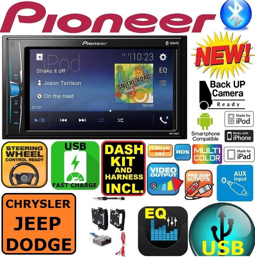 CHRYSLER JEEP DODGE GPS NAVIGATION SYSTEM BLUETOOTH//USB//EQ CAR RADIO STEREO PKG