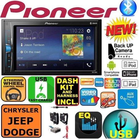 CHRYSLER JEEP DODGE PIONEER TOUCHSCREEN BLUETOOTH USB AUX CAR STEREO RADIO PKG (Pioneer Car Bluetooth Radio)