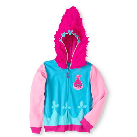 Trolls Girls' Costume Hoodie (Little Girls & Big Girls)](Homemade Troll Doll Halloween Costume)