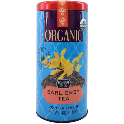 Signature Tea Co. Organic Earl Grey Tea, 20 ct, 1.4 oz