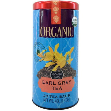 SIGNATURE TEA CO. Earl Grey Thé bio, comte 20, 1,4 oz