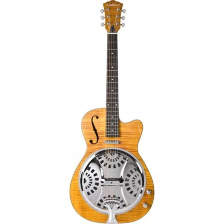 - Washburn Resonators R45RCE Resonator Electric Guitar, Natural