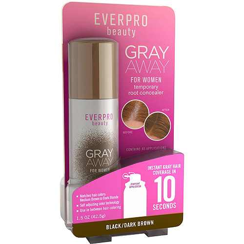 Everpro Beauty Gray Away for Women Temporary Root Concealer, Black/Dark Brown, 1.5 oz