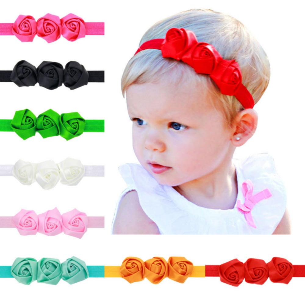 Tika 9 Pcs Colors Newborn Baby Girl Headband Infant