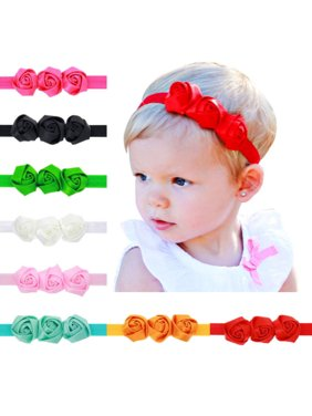 081eb9074593 Product Image 9 Pcs Colors Newborn Baby Girl Headband Infant Toddler Bow  Hair Band Headwear Accessories