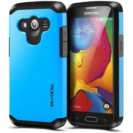 Galaxy Avant Case  Evocel  Hybrid Armor Protector Case  Dual Layer Protection   Raised Lip  For Samsung Galaxy Avant G386  T Mobile  Metro Pcs   Brilliant Blue  Evo Samg386 Sa02