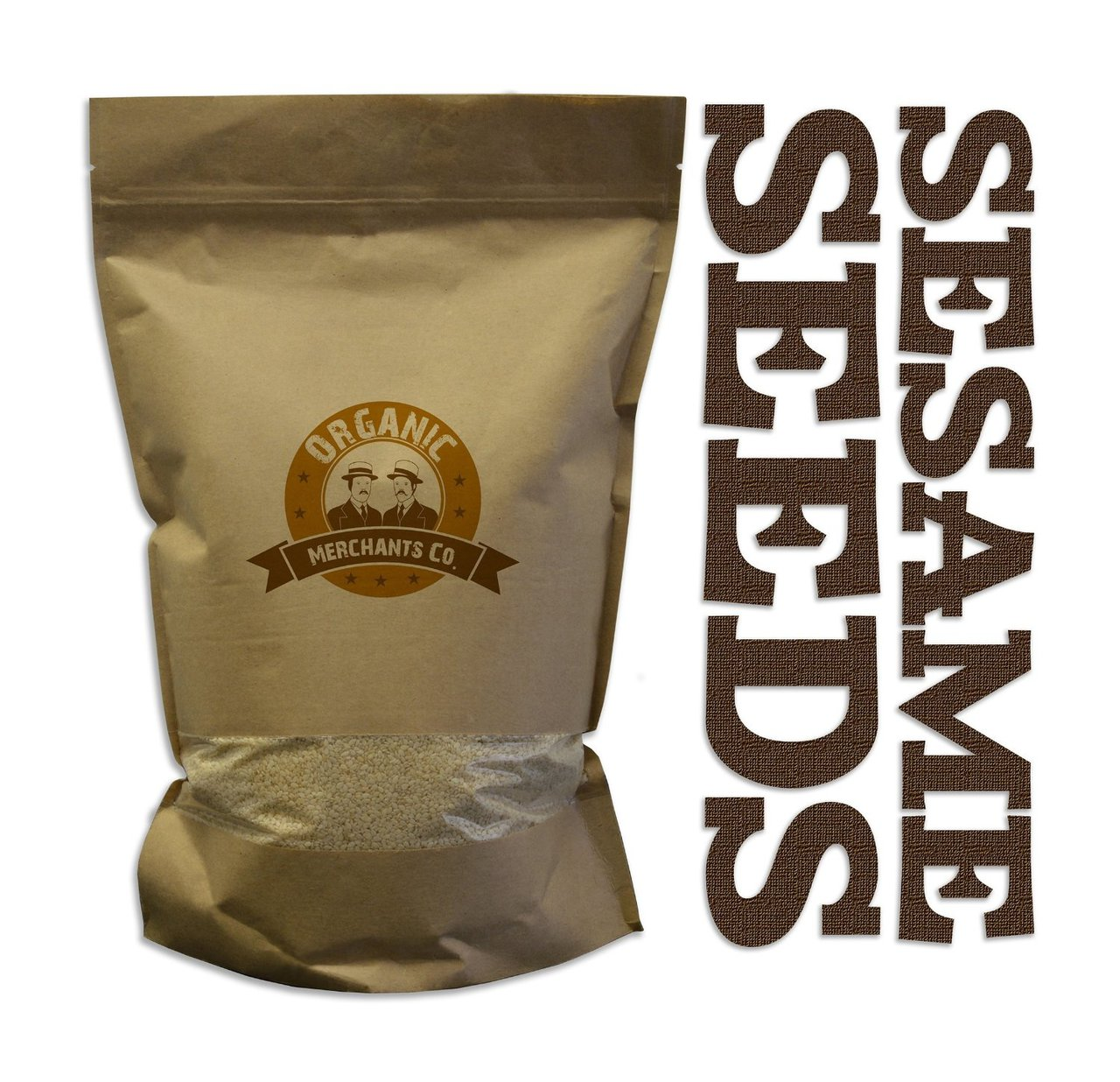 Organic Hulled Toasted Sesame Seeds - 4lb Bag - Kosher, NON GMO, Gluten Free