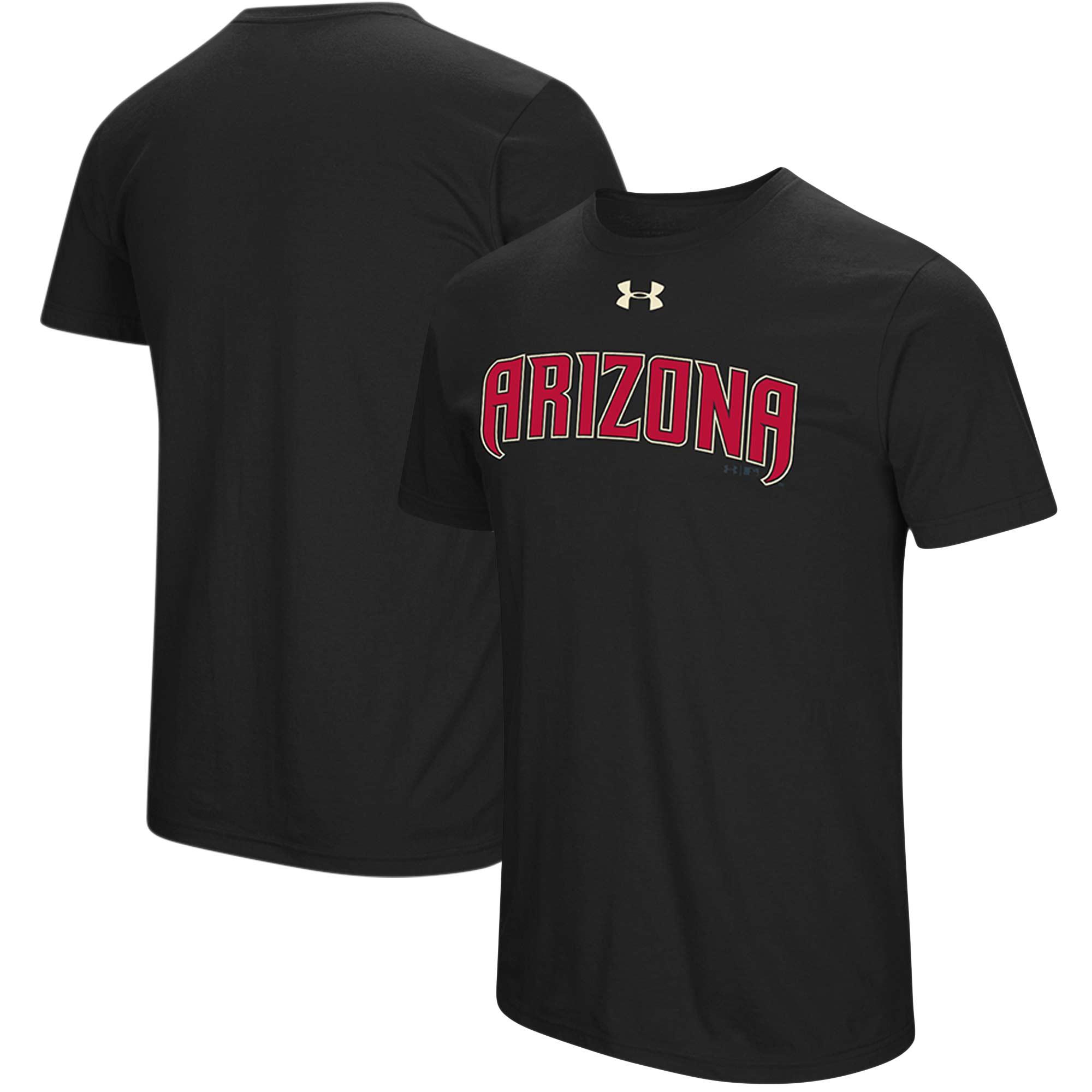 Arizona Diamondbacks Under Armour Passion Road Team Font T-Shirt - Black