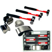7 Piece Heavy Duty Auto Body Dolly Dent Repair Kit Hammer Curved,Utility