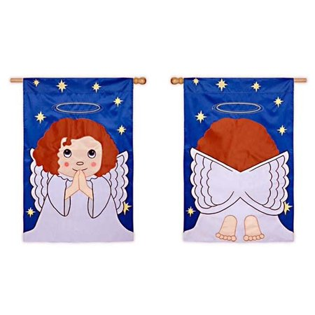 Blessed Angel Religious House Flag Double (28x44 Flag)