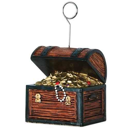 The Beistle Company Treasure Chest Photo/Balloon Holder (Set of 6)