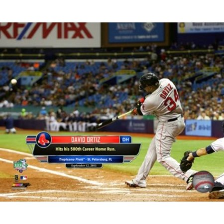 David Ortiz hits his 500th career MLB home run on September 12 2015 at Tropicana Field Sports Photo (David Ortiz Poster)