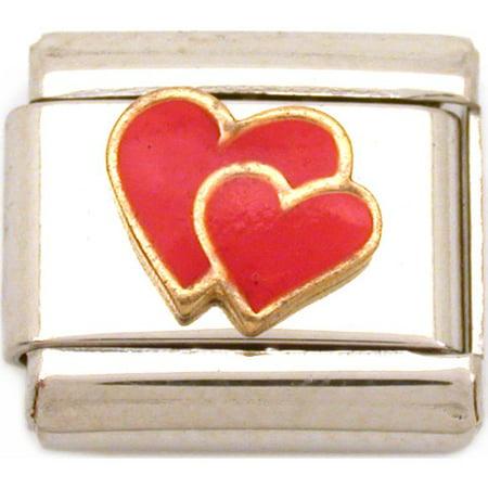 Hearts Italian Charm Enamel  Love  9mm (Love Custom 9mm Italian Charm)