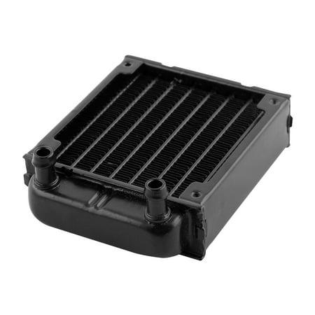 Computer CPU Aluminum 8 Pipes Water Cooling Heat Exchanger Radiator 80mm Black