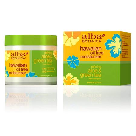 Alba Botanica Refining Aloe & Green Tea Hawaiian Oil-Free Moisturizer, 3 - Alba Botanica Moisturizer