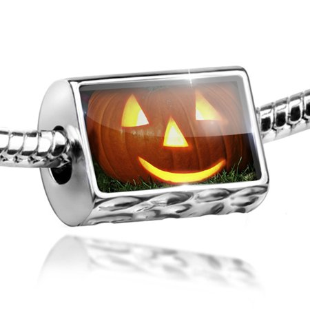 Bead Halloween pumpkin Charm Fits All European Bracelets