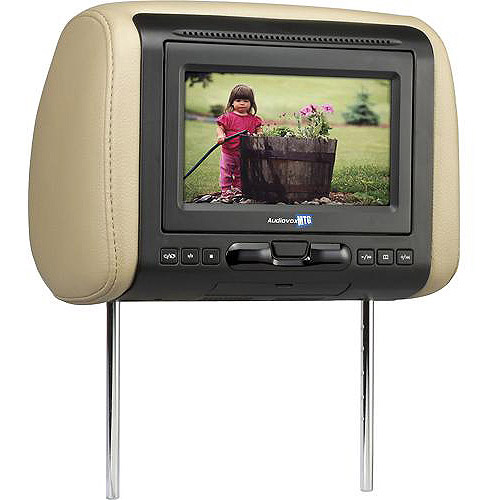 """Audiovox AVXMTGHR1D 7"""" Headrest Monitor with Built-in DVD Player"""