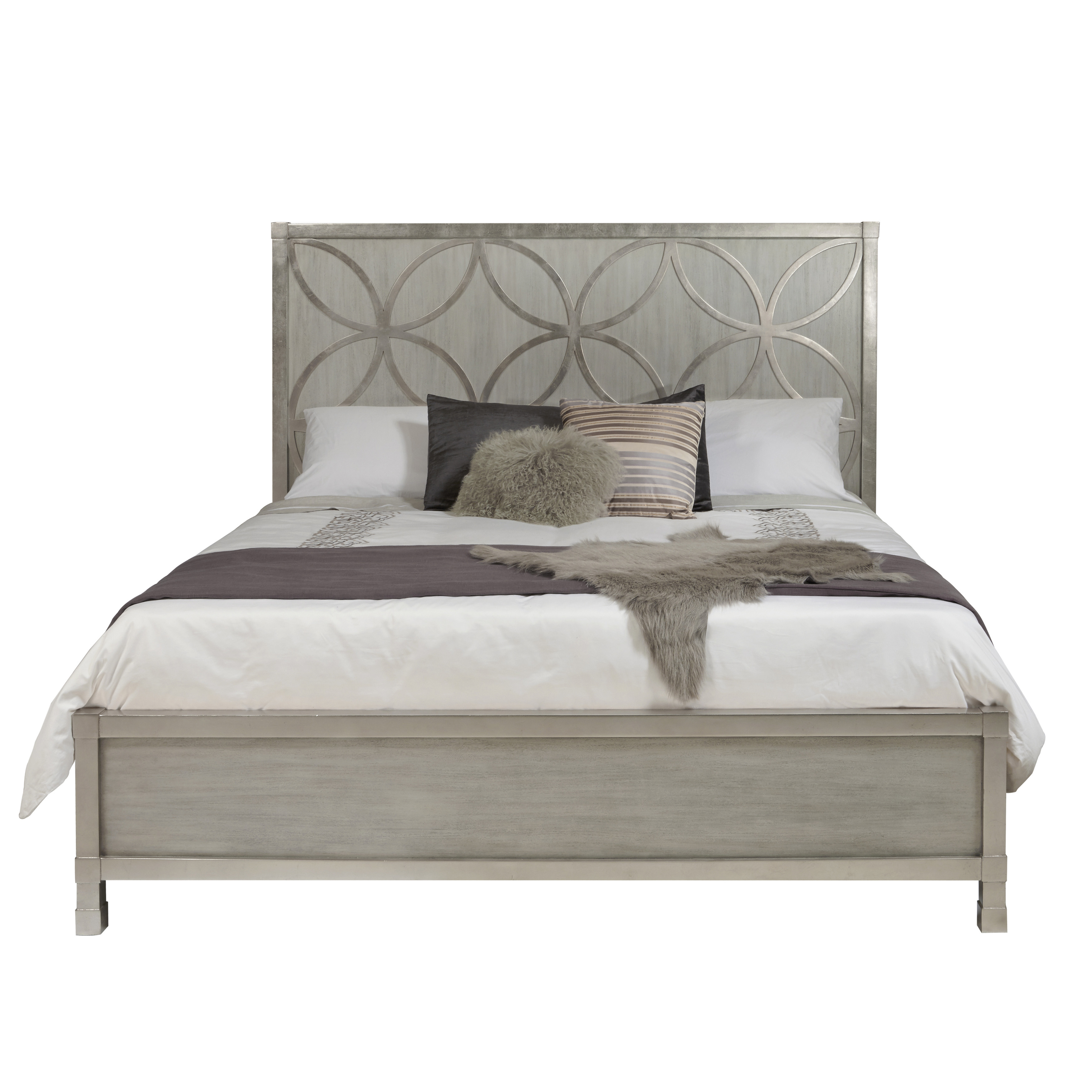 Silverleaf Quatrefoil Queen Bed Footboard