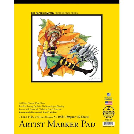 Bee Paper Bleedproof Marker Pad  11 Inch 14 Inch  Acid Free By Bee Paper Company Ship From Us