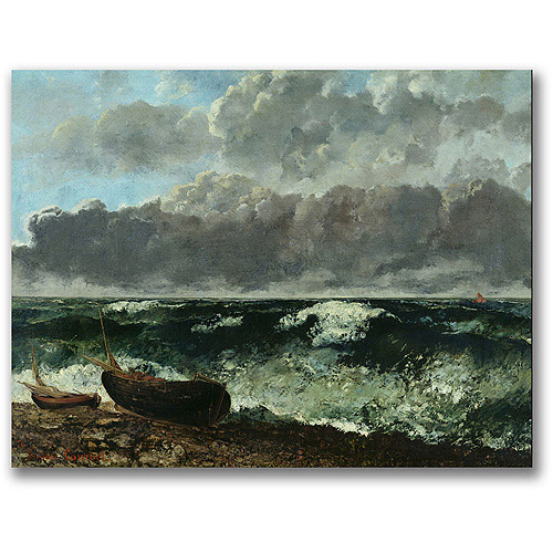 "Trademark Fine Art ""The Stormy Sea"" Canvas Art by Gustave Courbet"