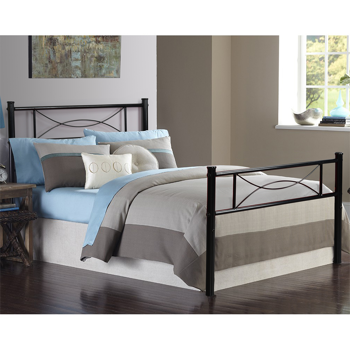 Furniture R Bedroom Metal Bed Frame Platform Base Mattress Foundation Twin and Full